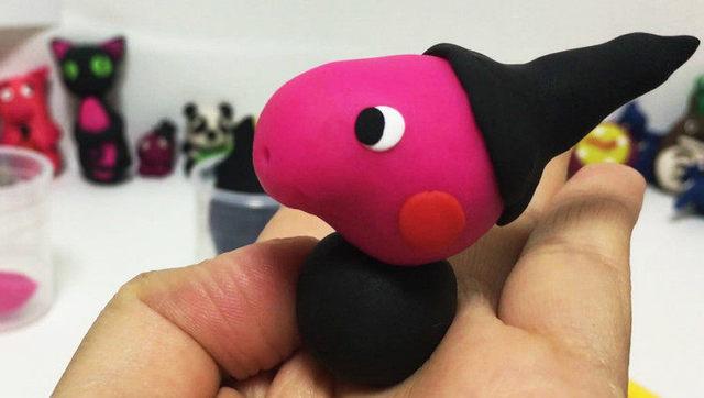 玩具视频 橡皮泥手工制作巫师小猪佩琪 亲子游戏