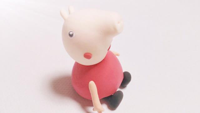 纯手工diy制作粉红猪小妹卡通人物小猪佩奇 儿童益智亲子游戏