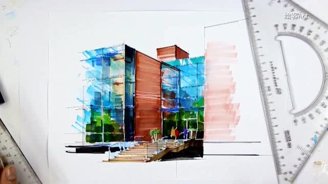 教育 《马克笔手绘表现技法入门:建筑表现》配套视频 人民邮电出版社