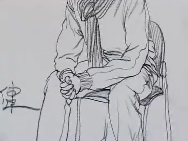 幼儿园坐姿礼仪简笔画