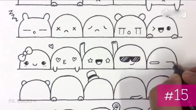 插画家实力教学30种简单又可爱的表情,感觉很适合闲暇涂鸦玩
