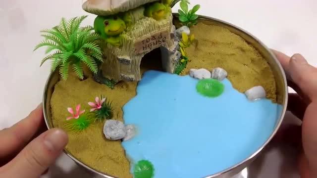 diy梦幻精灵手工制作青蛙的城堡