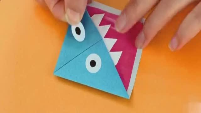 实用diy:小怪物折纸书签