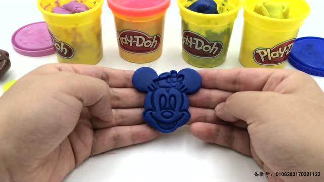 橡皮泥玩具 朵拉制作米妮彩泥头像亲子游戏