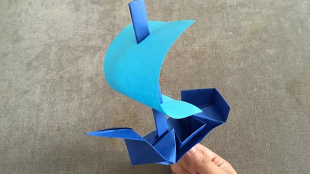 手工折纸:帆船