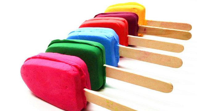 培乐多彩泥橡皮泥粘土手工制作五颜六色的冰淇淋雪糕