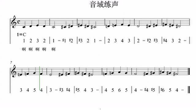 幼儿练声歌曲简谱