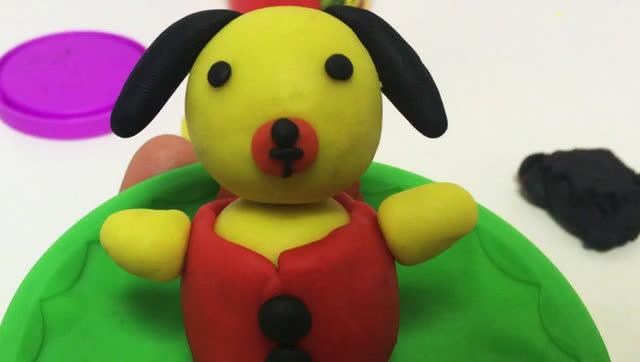 玩具视频 橡皮泥手工制作过冬小狗 亲子互动