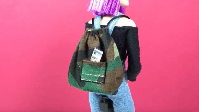 diy教程-如何给芭比娃娃做背包
