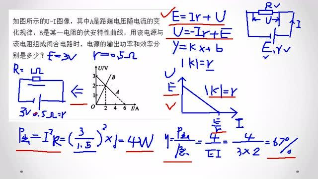 熊猫物理 高中物理 恒定电流 习题7 闭合电路欧姆定律