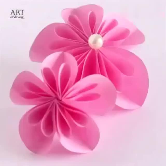 创意手工折纸花朵