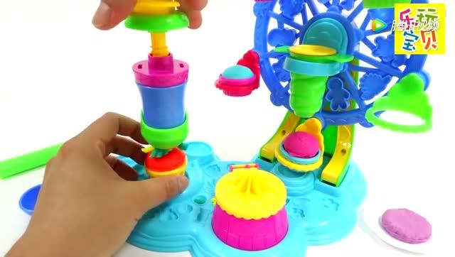 彩泥橡皮泥黏土手工玩具 制作橡皮泥蛋糕狂欢节玩具 彩泥玩具
