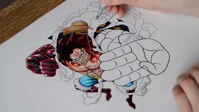 海贼王索隆手绘