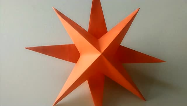 折纸大全 教你折个简单的立体星星 其实很好折又好看