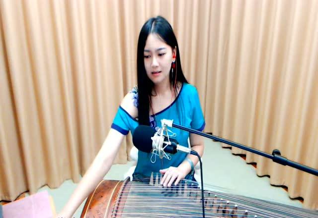 紫若辰古筝演奏梅艳芳的《女人花》