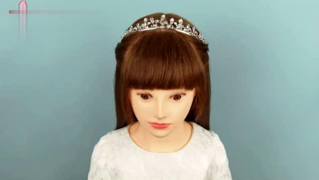 2018流行半扎公主头编法 简单宝妈儿童发型扎法步骤