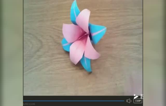 手工折纸大全视频 折纸教程百合花