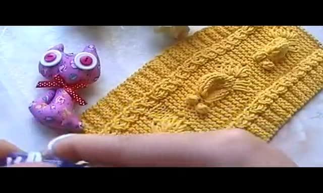 毛衣编织花样5000 棒针立体金鱼织法
