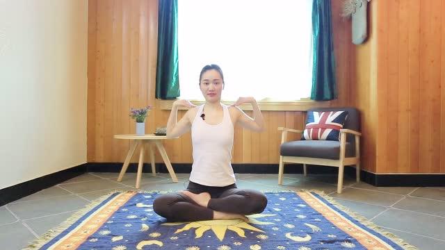 单色瑜伽: 肩颈理疗教学-肩转动图片