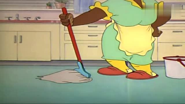 汤姆的主人_《猫和老鼠》浑身是泥的汤姆将主人家弄的很脏,要汤姆