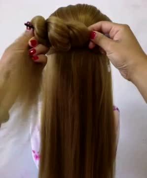 发型教程,流苏古装发簪,时尚现代发型