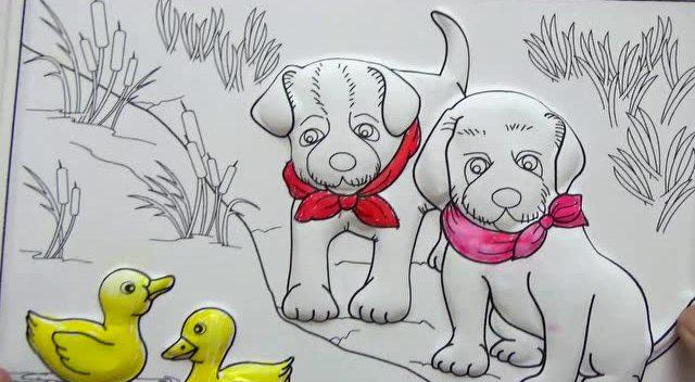 粉红猪小妹巨大恐龙蛋 奇趣蛋三d图画小黄狗
