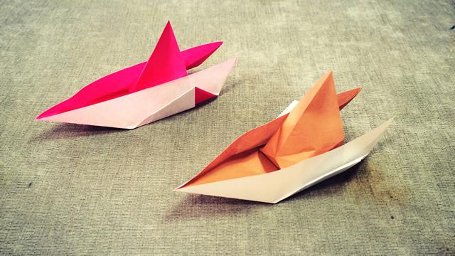 第229期 儿童折纸:快艇折纸视频