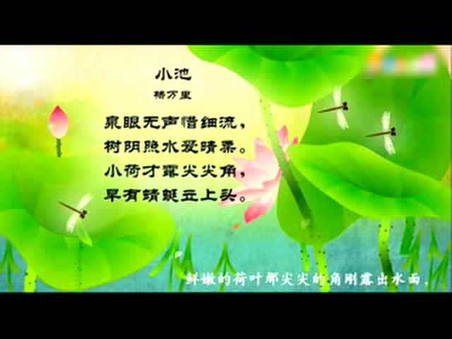 古诗·小池 宋·杨万里图片