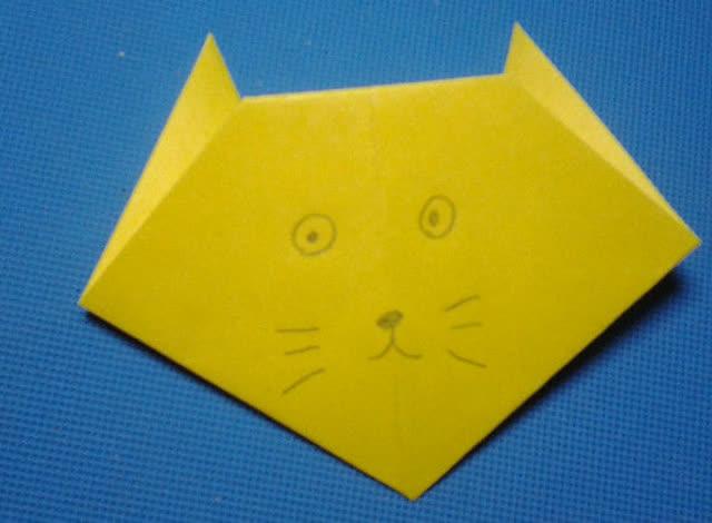 折纸王子教你折猫头 1 儿童折纸大全