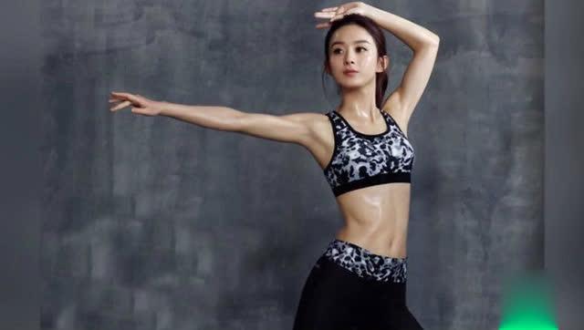 赵丽颖穿运动小背心秀完美腹肌,杨幂自拍再现经典造型
