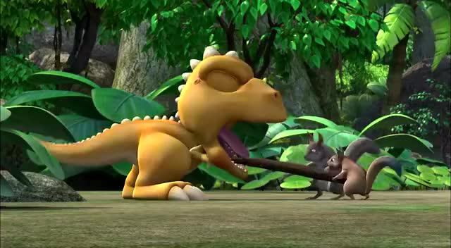 小恐龙阿贡:爱吃东西的阿贡牙疼,它该怎么办啊?图片
