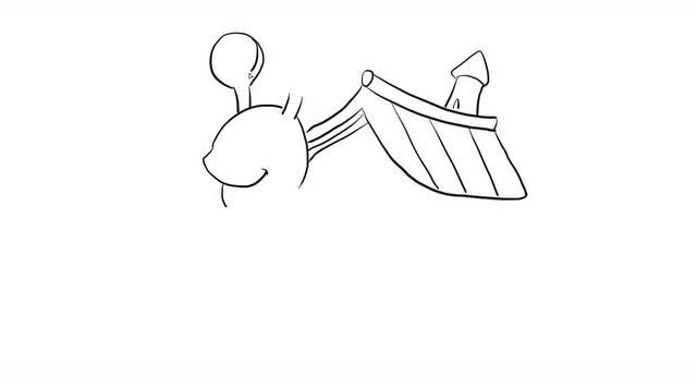 蜗牛搬家幼儿亲子儿童简笔画 幼儿园学画画