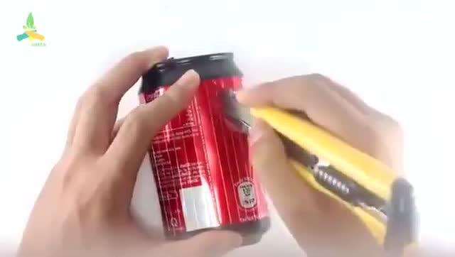 如何用易拉罐 diy制作一创意小灯笼 有意思