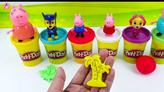 彩泥培乐多创意手工儿童玩具 小猪佩奇和汪汪队立大功