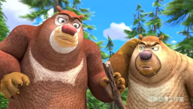 熊出没之探险日记赵琳不要导游光头强,遭遇熊大熊二,危险?图片