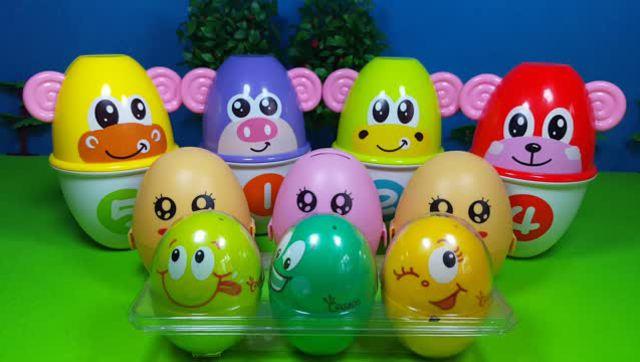 亲子早教益智动漫:3d动画游戏机抓奇趣蛋,宝宝认识颜色英语图片