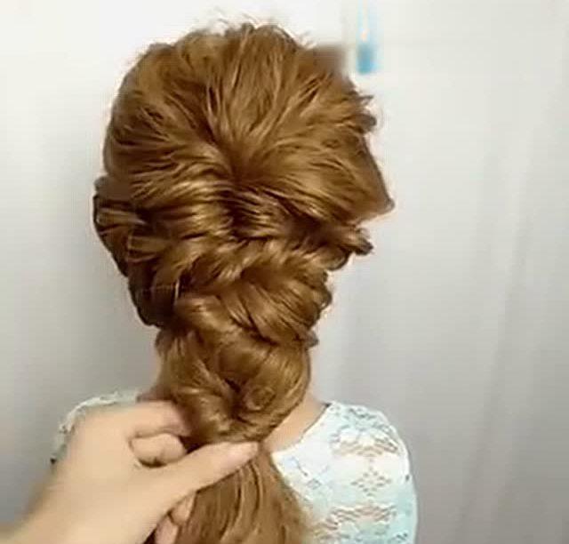 简单时尚的新娘编发盘发教程图片