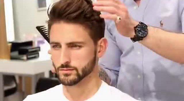 看国外帅哥如何自己剪头发,果然是人才呀!图片