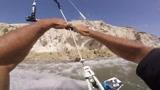 惊险刺激!第一视角风筝冲浪 天空海洋杂耍技巧高速转换