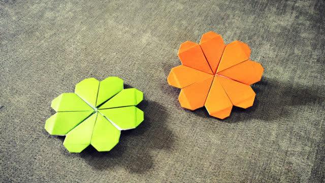 手工折纸大全 简单漂亮爱心果盘折纸视频教程