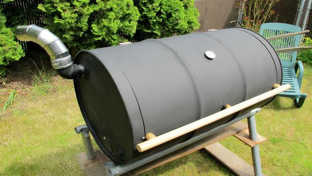 铁桶改装烧烤炉,吃货也要有动手能力!