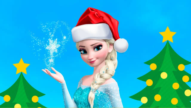 冰雪奇缘艾莎公主拯救圣诞卡通早教