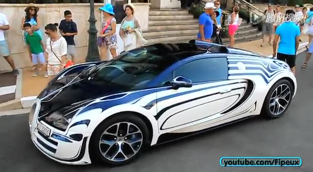 摩纳哥实拍布加迪Bugatti Veyron Vitesse截图