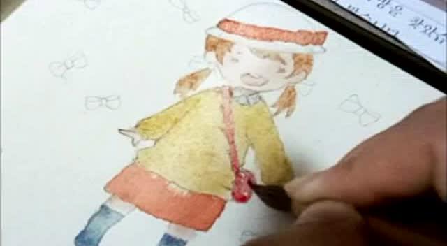 木棉绘画工坊之古风水彩发簪画