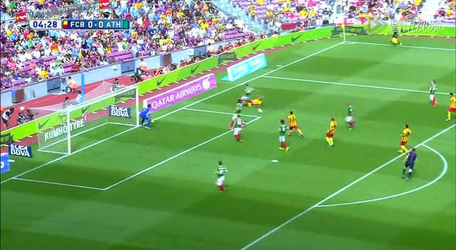 【射门】巴萨细腻配合撕开对手防线 佩德罗射门被扑截图