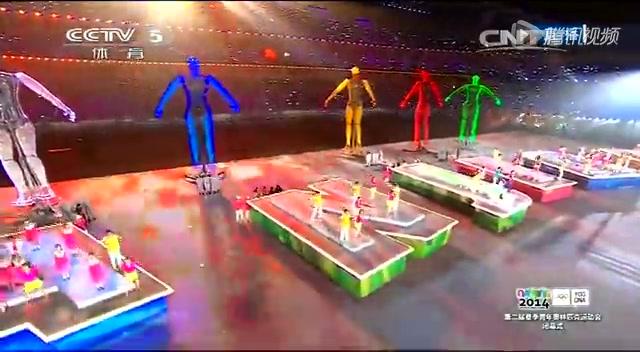 群星合唱《点亮未来》 2014年南京青奥会正式闭幕截图