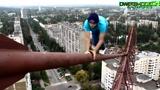 挑战极限 徒手150米高空攀爬