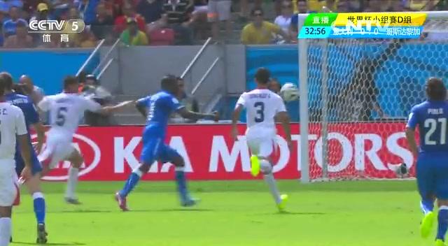 全场集锦:意大利0-1哥斯达黎加 鲁伊斯头槌建功截图