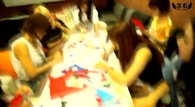清纯可人 韩国少女团体自编饶舌加油歌曲截图