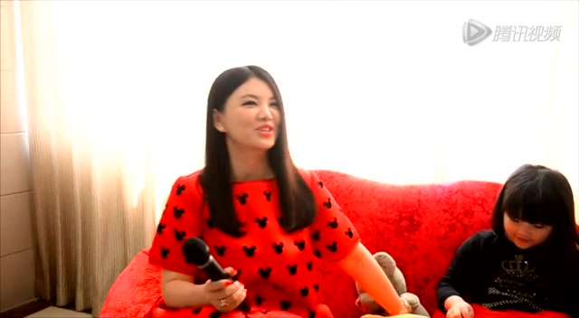 花絮:专访李湘:生二胎要Angela同意截图